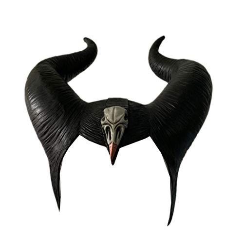 ValuePack Maleficent Hörner Maske Schwarze Königin Hexe Hörner Hut Kopfbedeckung 2019 Film Mistress of Evil Damen Cosplay Kostüm Zubehör für Halloween (Aktualisierte Version - Maleficent'film Kostüm