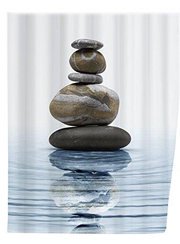 "Wenko Duschvorhang ""Meditation"", 200×180 cm, Polyester"