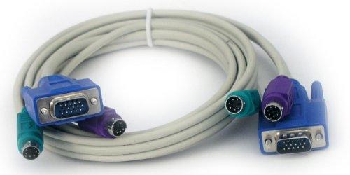 Ps2-maus-tastatur-monitor-kabel (1,40 m KVM KABEL FÜR SWITCH PC UMSCHALTER VGA PS/2 STECKER-STECKER)