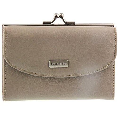 Portefeuille, porte-monnaie, ELEPHANT D'OR, très féminin, taupe