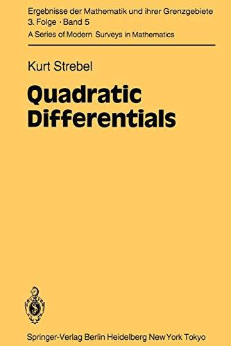 Quadratic Differentials (Ergebnisse der Mathematik und ihrer Grenzgebiete. 3. Folge / A Series of Modern Surveys in Mathematics, Band 5)