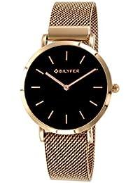 Reloj Bilyfer para Mujer con Correa Rosada y Pantalla en Negro 3P556-CU