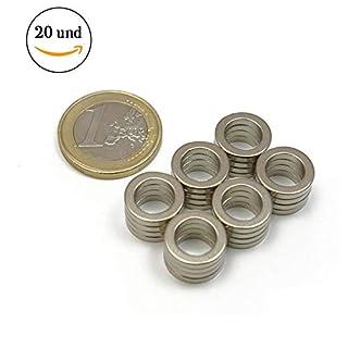 20Pieces of Neodymium Magnetic Hoop–12mm internal diameter x 8mm Diameter x 4mm thick–Strength Of Atraccion 0.9kg–800Gauss