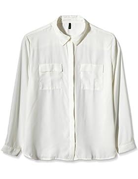 United Colors of Benetton Damen, Bluse, Long Sleeve Pocket Blouse
