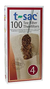 T-Sac Tea Filter Bags, Disposable Tea Infuser, Number 4-Size, 6 to 12-Cup Capacity, Set of 400