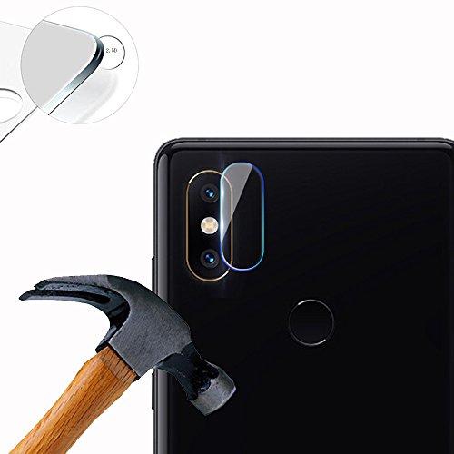 Lusee 2 x Pack Kamera Schutzfolie Linsenschutz für Xiaomi Mi Mix 2S 5.99 Zoll Echtglas Tempered Glass Bildschirm Schutz Folie