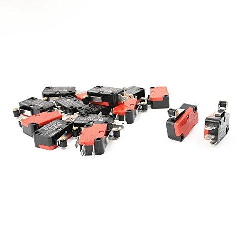 WINOMO Premium V-155-1 C 25 Mikroschalter Mini Limit schalter kurz Scharnier Roller Arm SPDT Snap Action Home LOT - 10 Stück - Mikroschalter Snap