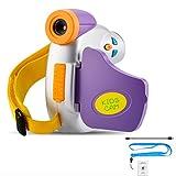 Digitale Videokamera für Kinder,AMKOV Kinder Camcorder, 1,44 Zoll TFT-Farbbildschirm, 5 Megapixel Kinderkamera