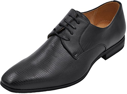 Chaussures à lacets à doublure cuir, chaussures de cérémonie, derbies de mariage homme. NOIR A 558