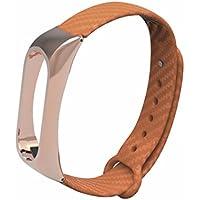 Zolimx Nueva Moda TPE Pulsera Estilo de Negocio Correa Para Xiaomi Mi Band 2 (Naranja)