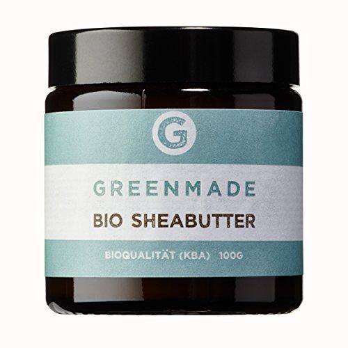 Bio Sheabutter 100g - 100% rein - aus kontrolliert biologischem Anbau von greenmade -