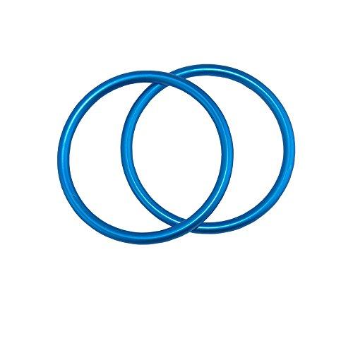 topind 7,6cm Größe Aluminium Baby Sling Ringe für Babyschalen & Tragetücher von 2Pcs Lake Blue
