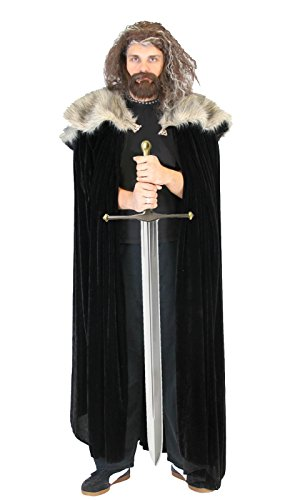 Preisvergleich Produktbild Game of Thrones Medieval North King Ned Stark Pelz Kostüm Cloak Cape