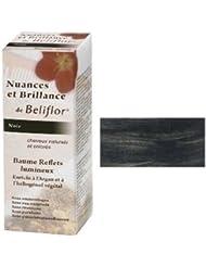 Beliflor08-Nuances et Brillance 2 en 1 coloration douce + baume capillaire 'Reflets Noir' BIO-150ml