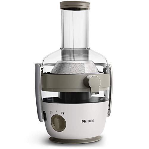 Philips hr1918/80 centrifuga per succhi di frutta e verdura, tecnologia fiberboost, quickclean plus per pulizia facile, 1000 watt, collezione avance, brocca da 1 l e ricettario incluse