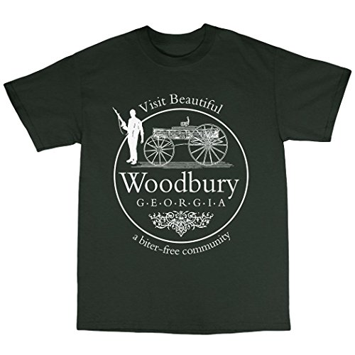 Woodbury Georgia Walking Dead Inspired T-Shirt Baumwolle Waldgrün