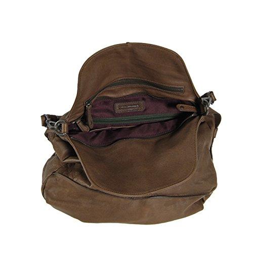 FREDsBRUDER Sac à main - porté épaule Vanilla cuir 39 cm Brown (Braun)