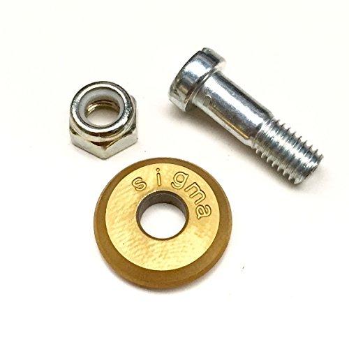 Sigma Fliesenschneider Ersatzrädchen 16 mm Titan inkl. Achse Titanstahl