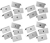 Durable Edelstahl Tischaufsteller Tischnummern 1-20 Tisch Zahl Nummer Tischkarte (Nummer 1-20)