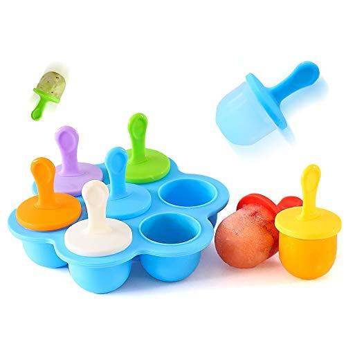 MIJNUX 2 Satz Silikon Mini Ice Pops Form EIS Ball Maker Popsicle Form DIY Nahrungsergänzungsmittel Werkzeug Obst Shake Eisform