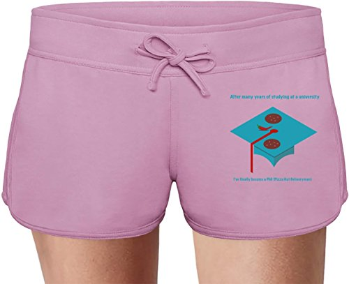 I've finally become a PhD Summer Sweat Shorts For Women & Ladies | 80% Cotton-20%Polyester| DTG Printing| Unique & Custom Briefs, Bermudas, Underpants, Slacks & Sports Clothing By Wicked Wicked