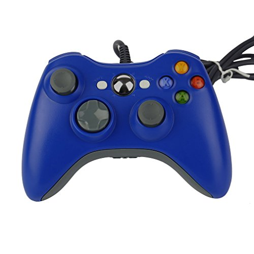 Controller GamePad Joypad USB con Vibrazione per PC Windows Xbox 360 Blu
