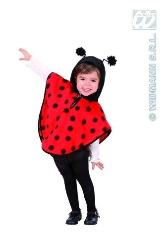 Das Kostümland Marienkäfer Kostüm Poncho Kinder Gr. 110 (Käfer Kostüm Kinder)