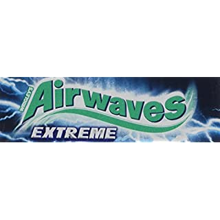 Wrigley's Airwaves Strong Dragees, Chewing Gums, 30 Packs of 10 Chewing Gums