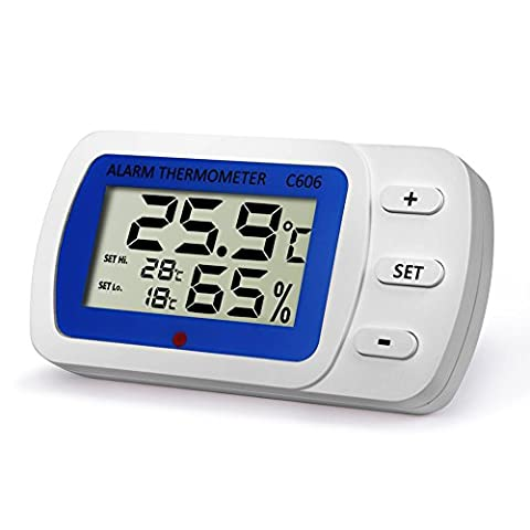 hygromètre Thermomètre d'intérieur et d'extérieur humidité moniteur avec indicateur de température humidité Mètre C606