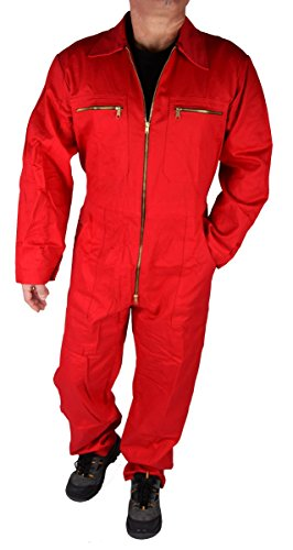 Stabiler Arbeitsoverall Arbeitskleidung Overall in verschiedenen Farben, Rot, 54