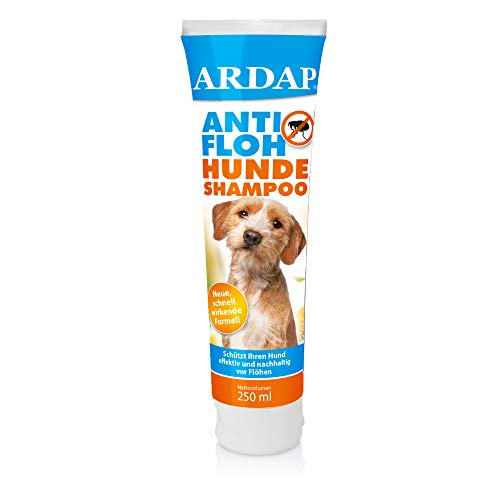 ARDAP Anti Floh Shampoo für Hunde, Flohschutz und Fellpflege mit Pyrethrum und Lavendelöl, 1 x 250 ml