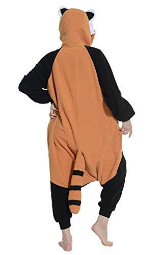Imagen de dato ropa de dormir pijama panda rojo cosplay disfraz animal unisexo adulto alternativa