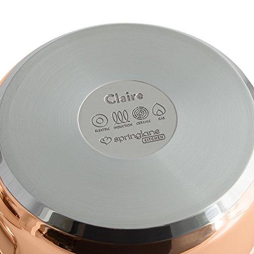 Set di Pentole Claire in Acciaio Inox a 3 Strati | di rame con coperchi in vetro, adatte a tutti i tipi di fornelli, inclusi induzione - 3