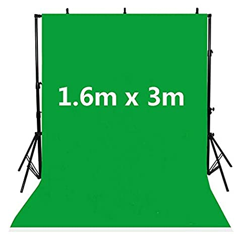 BPS 1.6m x 3m Chroma key Green Photo Backdrop Screen Chromakey Photo Studio Backdrop Photography Background Cloth without Backdrop Stand