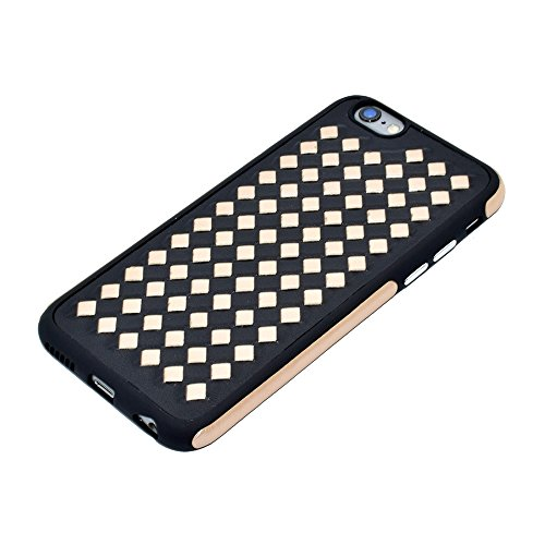 Wkae Diamond Knit Texture TPU Paste Skin Schutzhülle für iPhone 6 Plus & 6s Plus ( Color : Blue ) Gold