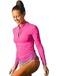 SANANG Protection UV pour les femmes à manches longues T-shirt à manches longues Maillot de bain