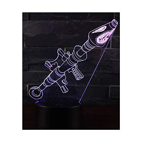 Leisu 3D Illusion Lampe Nachtlicht optische Täuschung Lampe Schreibtischlampe Tischlampe 7 Farben mit Acryl-Ebene & ABS Basis für Schlafzimmer Kinder Weihnachts Valentine Geburtstag geschenk (A1)