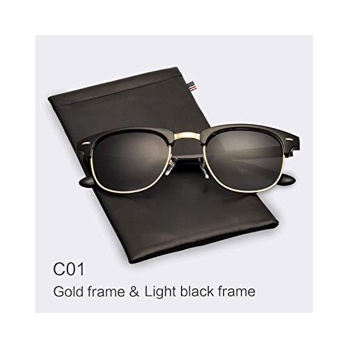 Sport-Sonnenbrillen, Vintage Sonnenbrillen, Classic Half Metal Polarized Sunglasses Men Women Glasses Mirror Sun Glasses Fashion Gafas Oculos De Sol C01