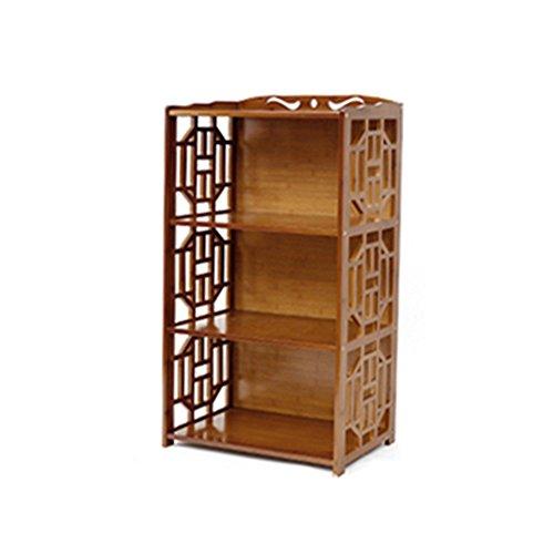 Bibliothèque Sexy Brown 2/3/4/5-niveau Retro Bamboo Salon Landing Locker Simple étagère (Taille : 42 * 29 * 100cm)