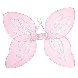 Pink Adult Angel Wings Rave Fairy Fancy Dress (accesorio de disfraz)