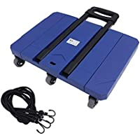 Yogasada Carro de Mano Extensible L016 150 kg Capacidad de Carga con 6 Ruedas del Carro