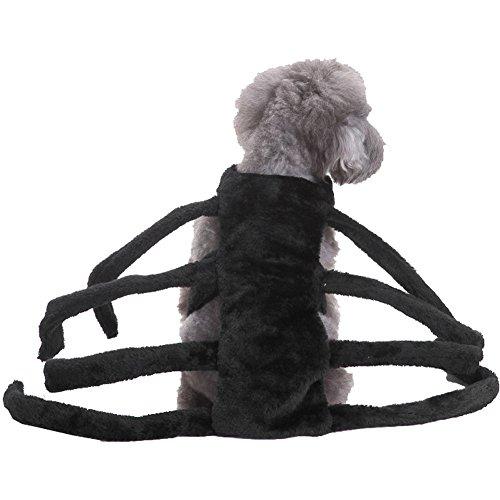 Vividda Hundekostüm Spinne Kleidung Haustier Hund Halloween Kostüm für Party Large (Hund Spinne Kostüme)