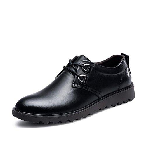 Hommes Casual Chaussures formelles en cuir pour hommes Chaussures formelles ( Color : Black-41 ) Black-43