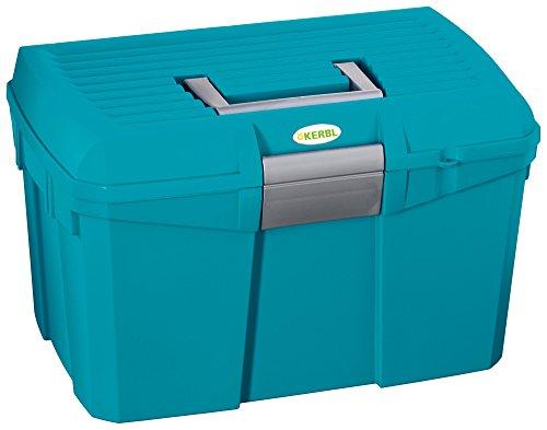 Kerbl 328267 Putzbox Siena mit herausnehmbaren Einsatz, capriblau