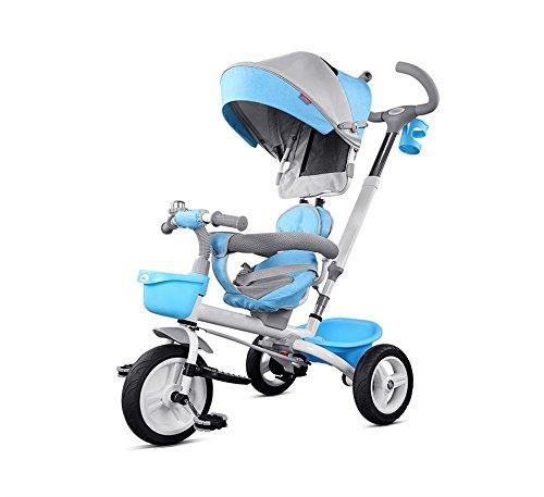 WYDM Klappbarer Kinderwagen, Kinderfahrrad, Baby-Klapprad, mit wetterfester Abdeckung (blau) (Farbe : Blau) (Wetterfester Abdeckung)