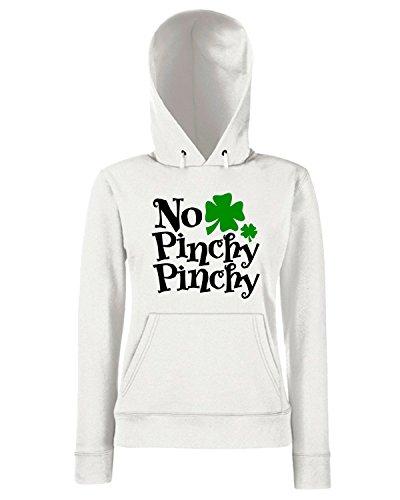T-Shirtshock - Sweats a capuche Femme TIR0157 no pinchy pinchy green tshirt Blanc