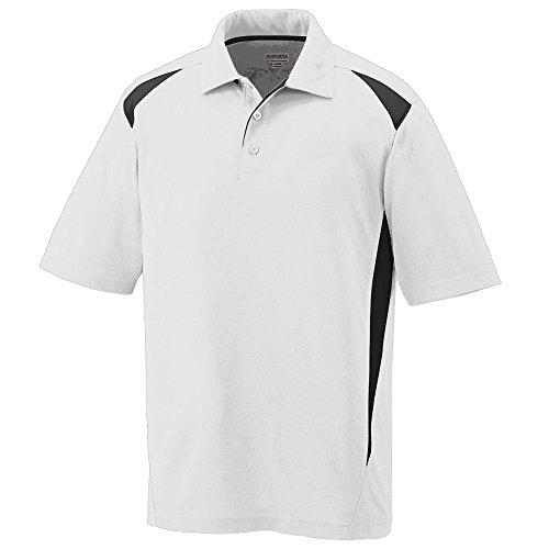 Augusta Herren Poloshirt Mehrfarbig - weiß / schwarz