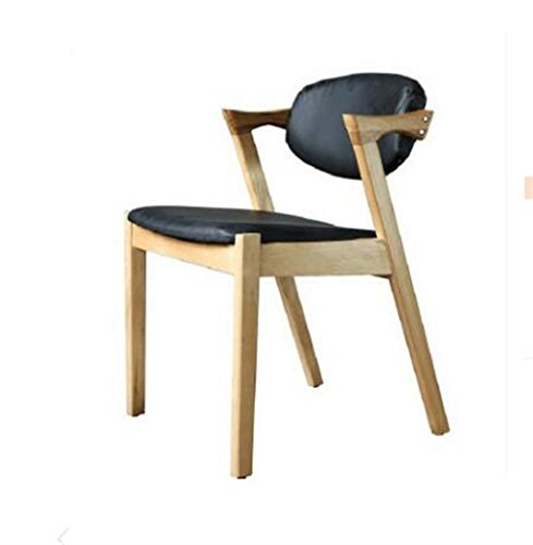 Tabouret en bois Chaise de salle à manger en bois massif nordique Z-Chair soft pack dossier chaises, cafétéria loisirs café tables et chaises (Couleur : #1)