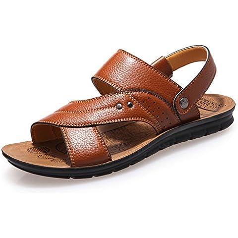 Traspiranti sandali uomo/Piattaforma antiscivolo scarpe di cuoio/Scarpe