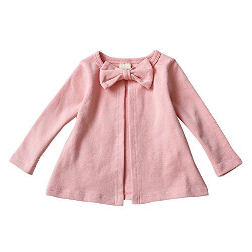 Brightup Baby Mädchen Casual Rundhals Bowknot Mantel, kleines Mädchen Baumwolle Strickjacke Frühling Herbst Jacke Kinder Langarmshirts (Mädchen Trenchcoat Kleine)